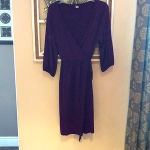 BOGO Old Navy purple jersey knit  midi dress L